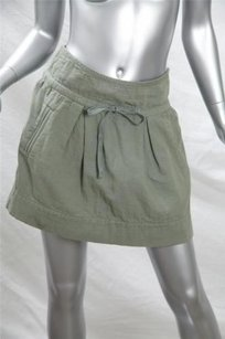 Isabel Marant Casual Army Mini Skirt Green