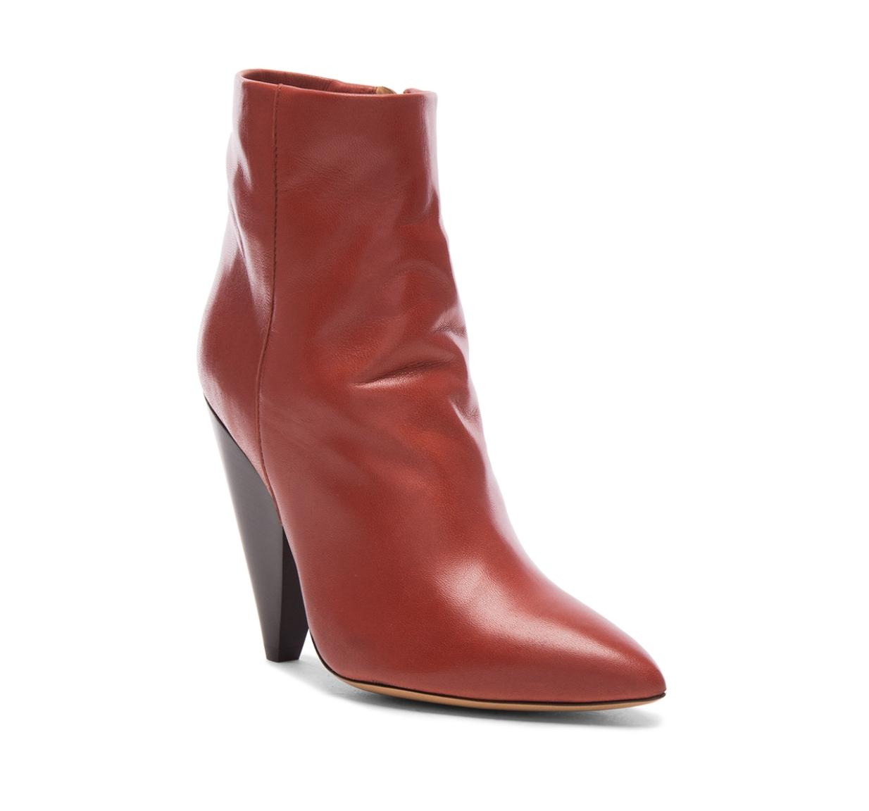 Isabel Marant Rust Brown Leydoni Ankle Style Id Bo012217p032s Boots/Booties Size EU 38 (Approx. US 8) Regular (M, B)