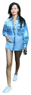 Isabel Marant Tie Dye Button Down Shirt Chambray