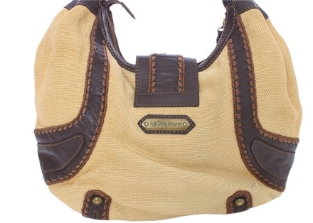 Isabella Fiore Leather Woven Hobo Bag
