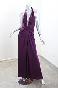 Purple Maxi Dress by ISSA London Womens Silk Stretch Halter Sleeveless Long Maxi 128