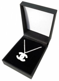Chanel AUTHENTIC CHANEL LOGO NECKLACE