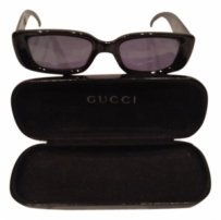 Gucci Gucci large black rectangle frame sunglasses