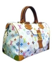 Louis Vuitton Bag - Satchel in White Multicolor