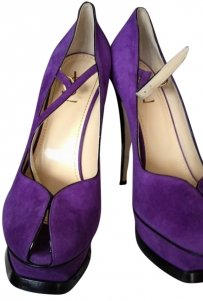 Yves Saint Laurent Ysl Purple Pumps