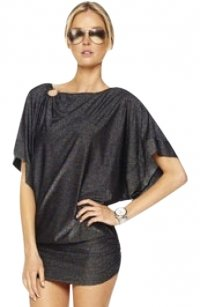 Michael Kors Michael Kors Black Metallic Swimsuit Coverup Dress