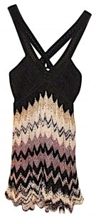 M Missoni Cross Back Sleeveless Knit Top Black/Multi