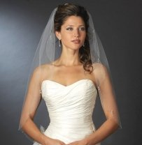 Elegance By Carbonneau White Fingertip Length Crystal Wedding
