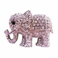 Elephant Brooch Fully Embedded W/ Cubic