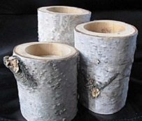Handmade Birch Tea Lights Holders