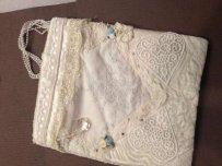 Vintage Wedding Dress Handmade Bag