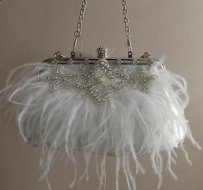 Luxurious White Satin Bridal Purse