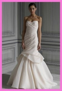 Monique Lhuillier Peony In Blush Silk Wedding Dress