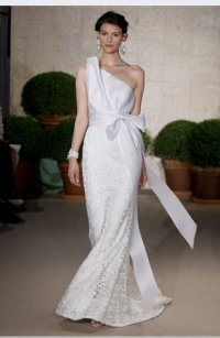 Oscar De La Renta 22n74 Silk Gazar Basket Weave With Lace Wedding Dress