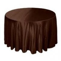 Brown Satin Table Clothes
