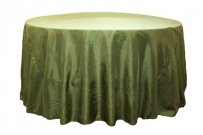 Lot Of 15 Green Crushed Taffeta Table