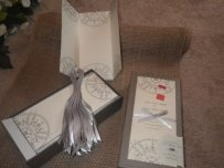 Wedding Program Kit In Gray