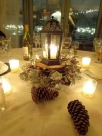Winter Lantern Centerpieces