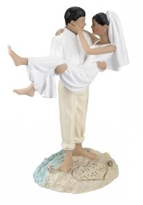 Hispanic Just Married Beach Figurine
