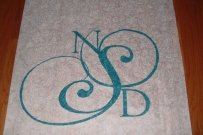 Wedding Aisle Runner Hand Painted Just
