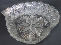 Cut Glass Heart Shape Bowl By Straus