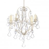 Ivory Baroque Candle Chandelier New