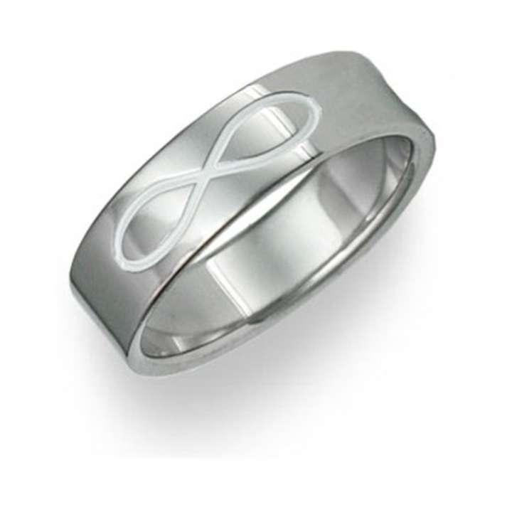 apples of gold titanium infinity symbol wedding band ring