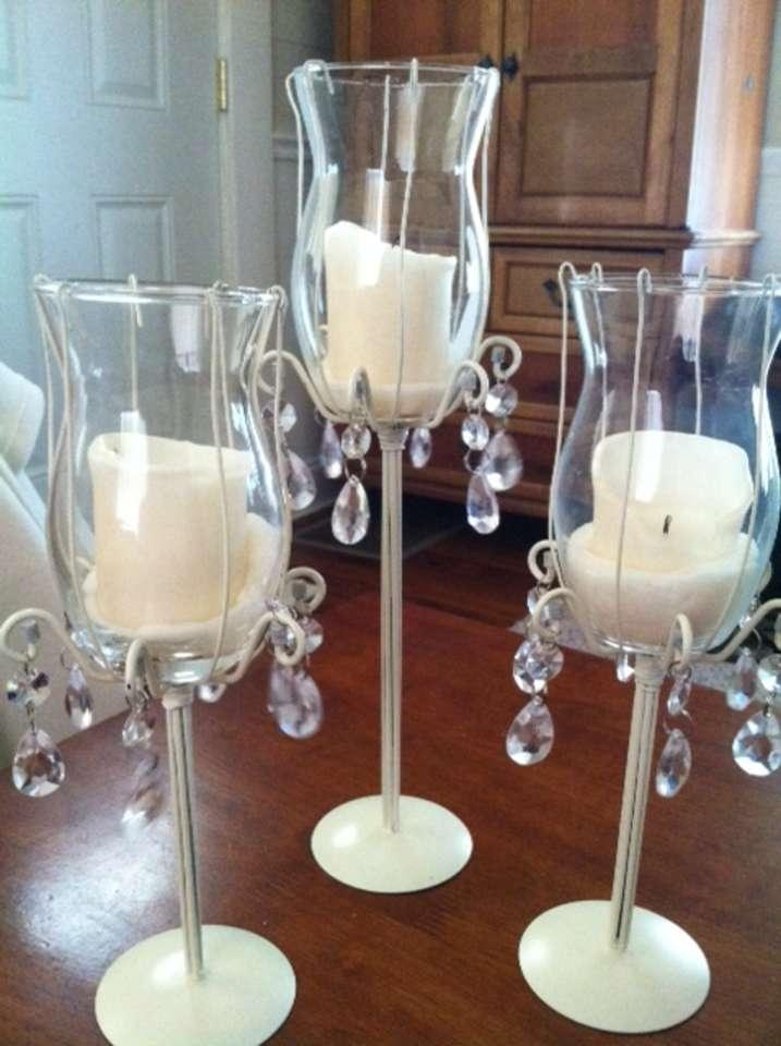 Piece tiered candle holder centerpieces tradesy
