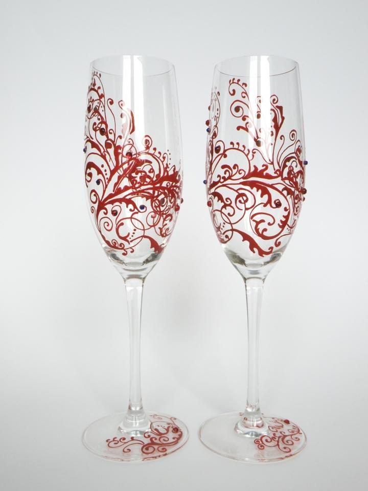wedding toasting flutes set of 2 personalized champagne glasses