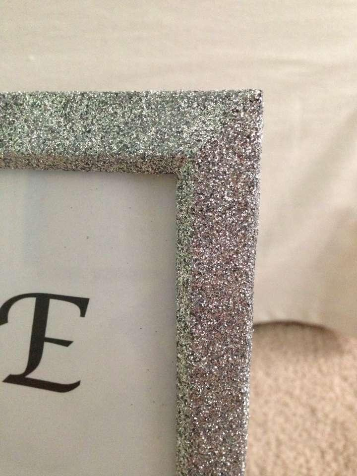 8x10 silver glitter wedding picture frames tradesy weddings