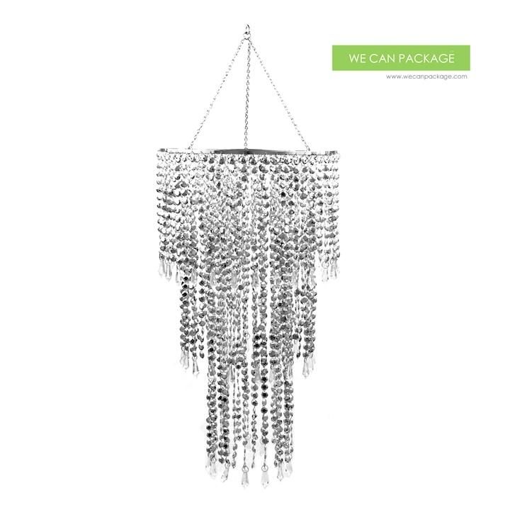 Wedding silver chandeliers centerpieces decorations for Bling decor