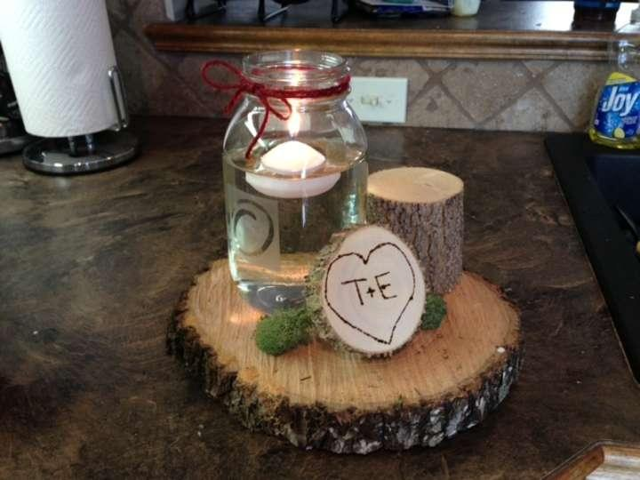 Wood centerpieces for rustic weddings tradesy