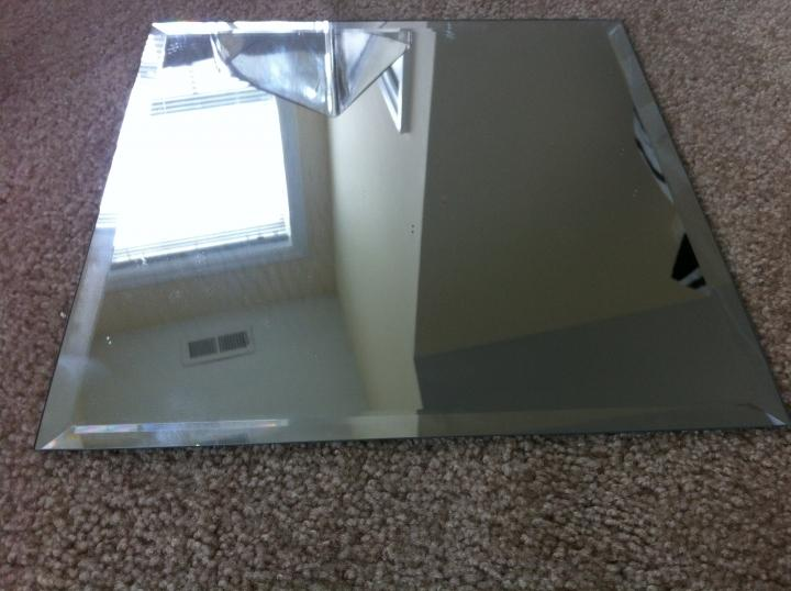 12 inch square table centerpiece mirrors tradesy weddings