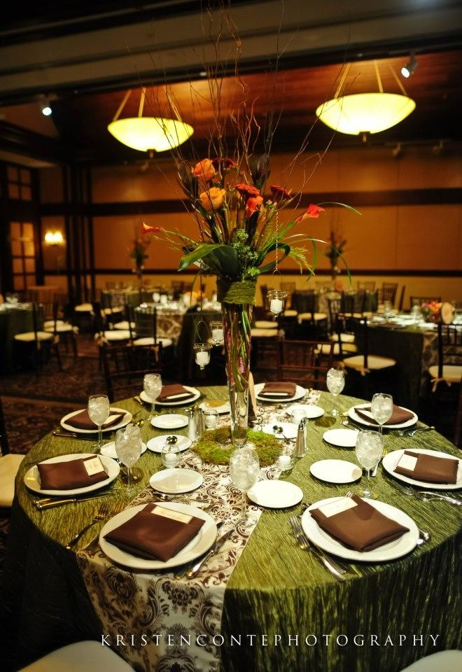 Green And Brown Living Room Decor: Olive Green Accordion Taffeta Tablecloths & Brown/ 35% Off