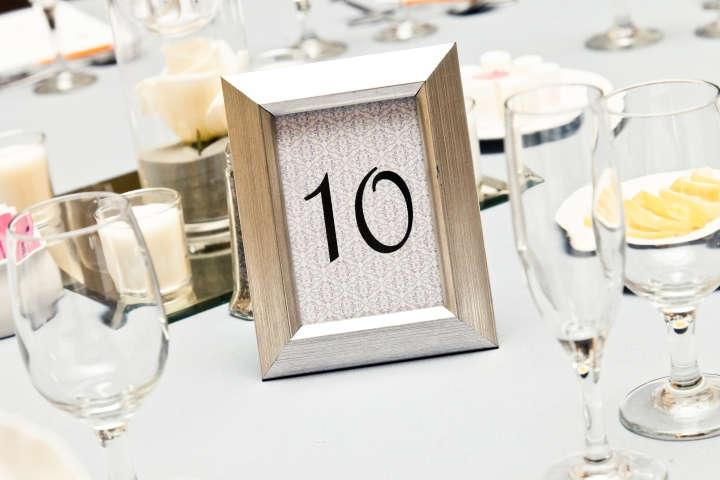 Table Number Picture Frames