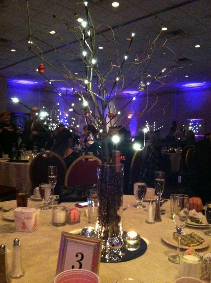 Lighted tree branches centerpieces for Lighted wedding centerpieces ideas