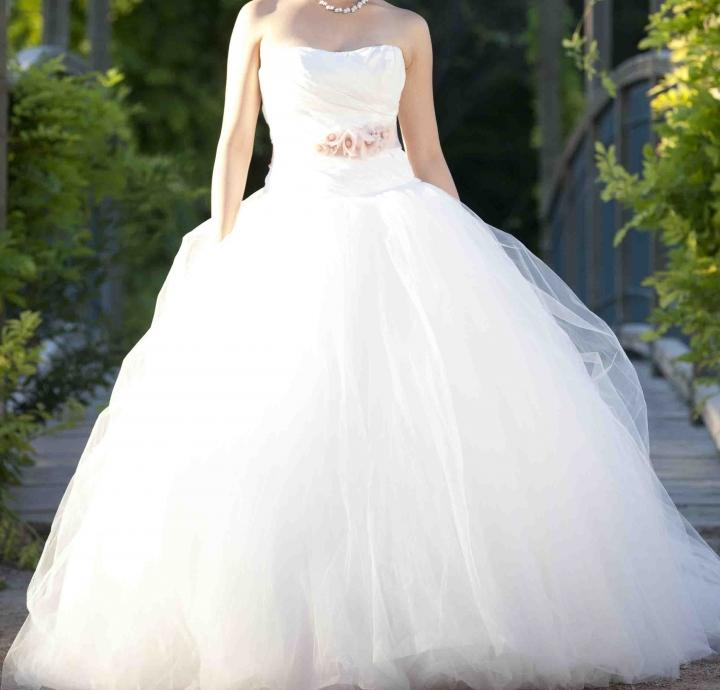 Ball Gown Wedding Dresses By Vera Wang : Vera wang ball gown with asymmetrically draped bodice