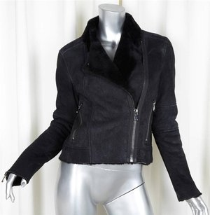 J Brand Womens Leather Black Jacket