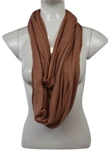J Brand J Womens Brown Speckled Scarf One Infinity Cotton Blend Casual