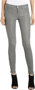 J Brand Superskinny Leatherpants Greyleatherleggings Skinny Jeans