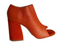 Jaggar Suede Lether Stylish Modern Heels Orange Pumps