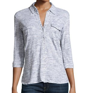 James Perse 100% Cotton 3/4 Sleeve Top