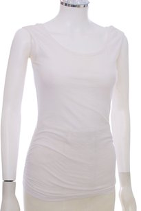 James Perse Cotton Scoop Neck Classic Top White