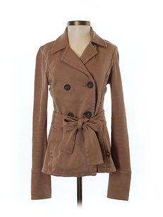 James Perse Double-breasted Belted Pea Coat
