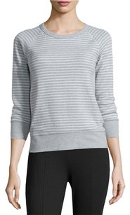James Perse James Raglan Striped Sweatshirt Cotton Sweater