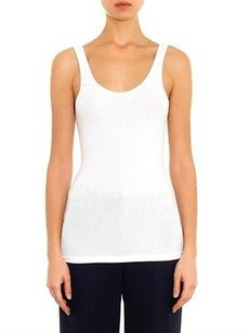 James Perse Ribbed Classic Buttery Top White