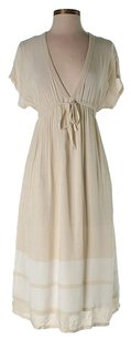 Beige Maxi Dress by James Perse V-neck Striped