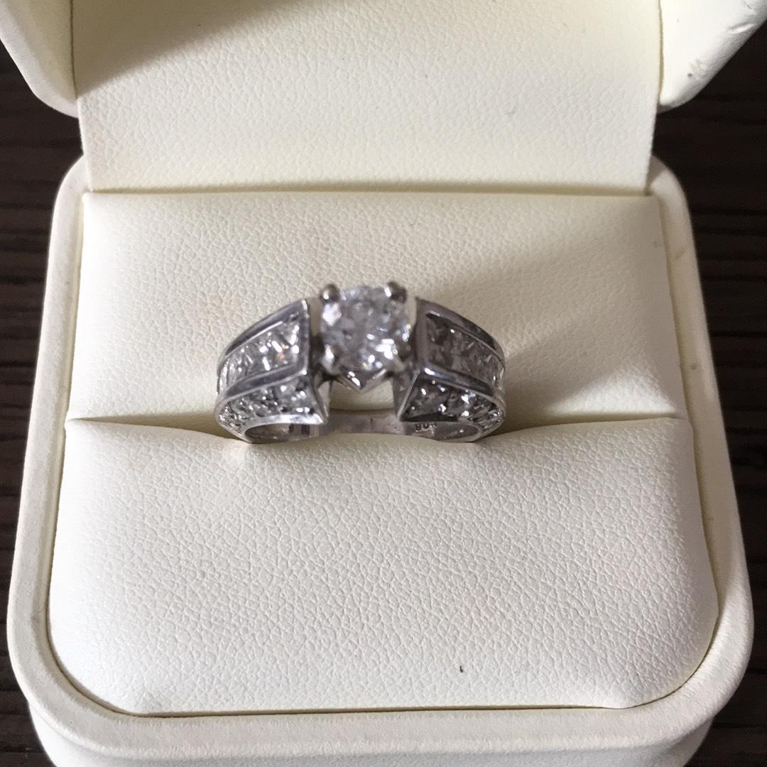Jared White Gold Womens Size 65 Engagement Ring Tradesy