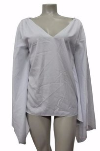 Jay Godfrey Batwing Sleeves Top White