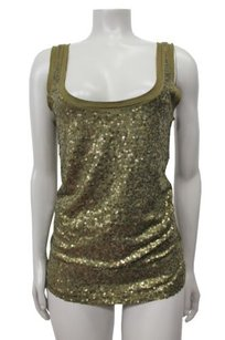 J.Crew Factory Scattered Sequin Sleeveless Style 3184 Top Green